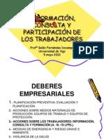 INFORMACIÓN, CONSULTA, PARTICIPACIÓN