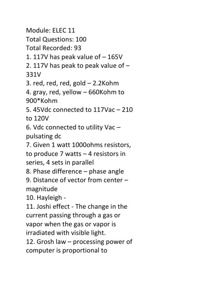 Module Electric Current Voltage Four Resistors In Parallel A Circuit 4 Kilohms 7 10