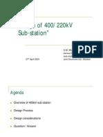 400 200 kV Substation Design