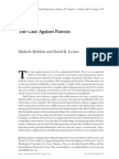 The Case Against Patents by Michele Boldrin and David K. Levine