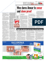 thesun 2009-02-24 page02 wee dares anwar to swear and show proof
