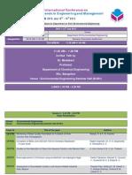 Env Schedule