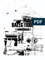 Monograph Series of the Baleg (Lambangian) Tribe
