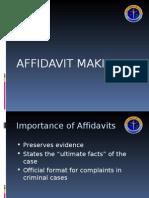 Affidavit Making