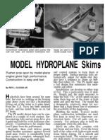 model-hydroplane