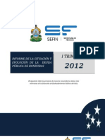 Informe de Deuda Publica de Honduras 20122