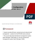 OptiX RTN 600 Configuration-- Using T2000 and T2000 Web LCT