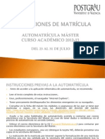 Instrucciones Matricula13 Sp