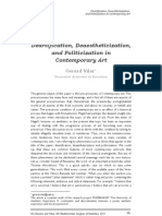 Vilar, G. - Deartification, Deaesthetization and Politicization