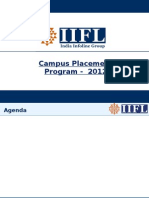 India Infoline Campus Placements PPT