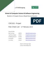 DSS 12 S4 03 Risk CheckList