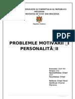 Problemele Motivarii Si Personalitatii