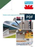 Plaquette MASTERIMPACT®-RH - Solution multi-usages pour locaux humides et très humides