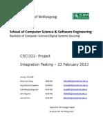 DSS 12 S4 03 Integration Testing