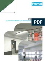 Plaquette PROMASPRAY® T - revêtement projeté destiné à l'isolation thermique des structures en béton
