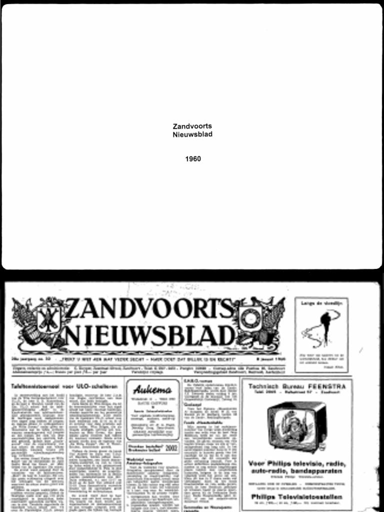 1960 Zandvoorts Nieuwsblad Pdf