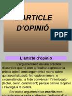 L'article d'opinió