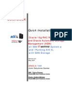 COOKBOOK Oracle 10gRAC R2 - ASM - IBM AIX5L - SAN Storage Installation Guide