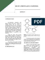 Fr3 Synthesis of 1 Phenylazo 2 Naphthol
