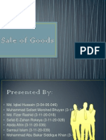 presentation on sale of goods
