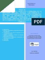 Tema 14 Ed. Primaria