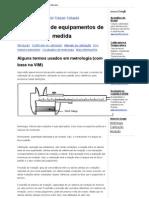 Equipment Calibration - Vocabulário de metrologia