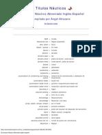 Diccionario Náutico Abreviado Inglés-Español