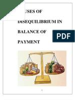 Causes of Disequilibrium in Balance of PaymentCAUSES OF DISEQUILIBRIUM IN BALANCE OF PAYMENT