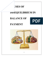Causes of Disequilibrium in Balance of PaymentCAUSES OF DISEQUILIBRIUM IN BALANCE OF PAYMENT