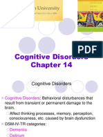 Chapter 14 Cognitive Disorders