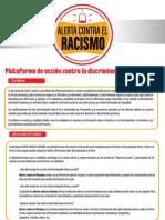 Alerta contra el racismo