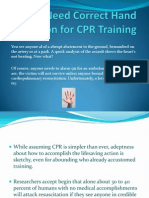 Need Correct Hand Position for CPR Training