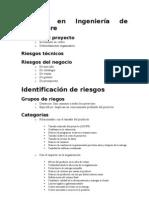 Esquema de Plan de Gestión de Riesgos en Ingeniería de Software