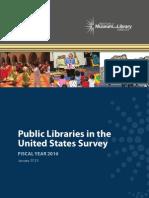 Bibliothèques publiques aux États-Unis - année 2010