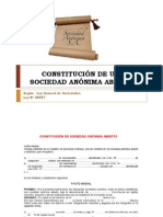 CONSTITUCIÓN DE UNA SOCIEDAD ANÓNIMA ABIERTA