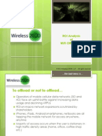 Roi Analysis of Wifi Offloading