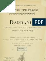 Dardanus - Vocal Score
