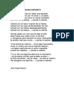 Poema Del Renunciamiento