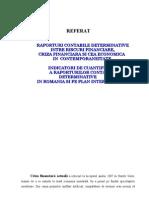 Referat Raporturi Contabile Determinate