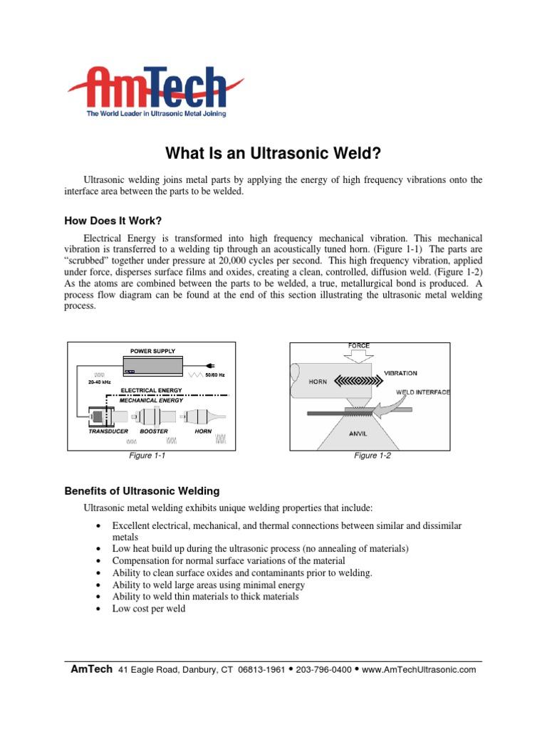 Whatisanultrasonicweldpdf Welding Ultrasound Ultrasonic Diagram