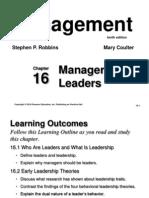 Chapter 16 - Leadership