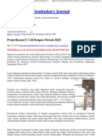 Pemeriksaan E Coli Dengan Metode H2S « Environmental Sanitation's Journal
