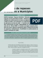 Retenção de Repasses Tributários a Municípios - Revista TCE-MG