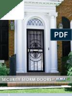 Security Storm Doors