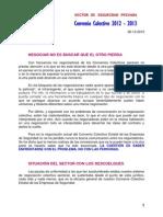 Informe UGT (26-2-13) sobre la negociación colectiva en el sector de la Seguridad Privada