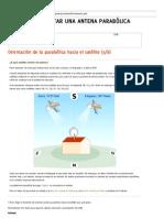 Cómo orientar e instalar una antena parabólica a Astra, Hispasat o cualquier otro satélite. Orientación hacia el satélite deseado. puntodepartida.com