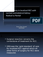 Radical vs Partial Nephrectomy in small renal masses