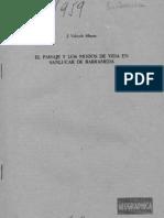 El paisaje y los modos de vida en Sanlúcar de Barrameda (J. Valverde, 1959)