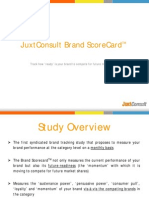 JuxtConsult Brand Scorecard Study - Online News Category Sample