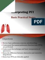 Interpreting PFT